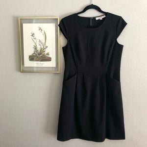 Loft black dress, POCKETS!! Sz 8